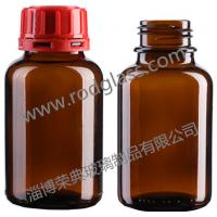 250ml Amber Chemical Reagent Glass Bottle Wide Mouth With