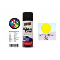 Quality Higher Adhesive Removable Rubber Spray Paint , Matt Yellow Color Auto Spray Paint for sale