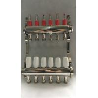 Quality Stainless Steel 304 Floor Hydronic Heating Manifold / Brass Water Manifold for sale