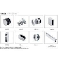 Quality Glass Sliding Door Kit 106, stainless steel 304, finishing satin, for bathroom door for sale