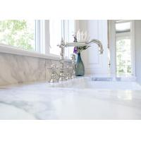 Quality Stunning Black And White Calacatta Marble Kitchen Countertops With Back Cabinets for sale