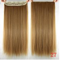 China Long Silky straight Synthetic Hair Extensions Double Drawn Strong Hair Weaving on sale