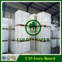 Buy cheap 170gsm 190gsm 210gsm 230gsm 250gsm 270gsm 300gsm 350gsm 400gsm C1S ivory board from wholesalers