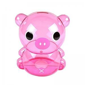 Quality Custom Pink Plastic Transparent Piggy Bank Money Box for sale