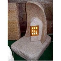 Quality Granite Carving with Night Light Insert, Stone Scuplture for sale
