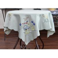 Quality Multiple Colors Dining Table Cloth , Chemical Fiber Embroidery Table Cloth for sale