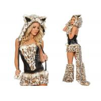 Frisky Leopard Woman Sexy  Party Adult Costumes Five Piece For Holiday Carnival