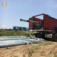 Quality Height 13m Electrical Power Pole , Metal Electric Pole 450daN SF 2.0 For ICE for sale
