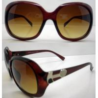 Quality Brown Lens Plastic Frame Sunglasses , 400UV Protection CE for sale