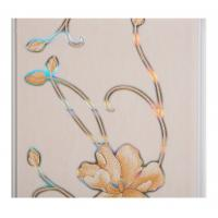 Quality Hot Stamping Flower Pvc Decorative Wall And Ceiling Panels 250 × 7mm for sale