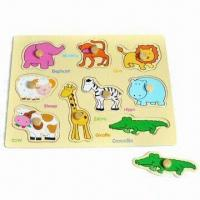 Quality Animal puzzle, Made of Plywood for sale