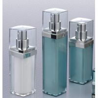 Quality empty  30ml 50ml square cosmetic airless pump bottle components for sale