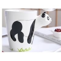 Quality Hand Printed 15 Ounce 3D Ceramic Reusable Coffee Cup for sale