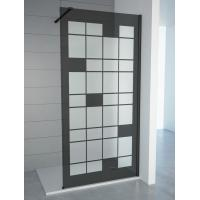 Quality Tempered Smoke Glass with Matt Walkin Shower Enclosures with adjustable bar For Baths , Bathroom Shower Cabinets for sale