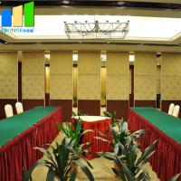 China Fabric Acoustic Movable Wall Sliding Partition Door For Hotel Banquet Hall on sale