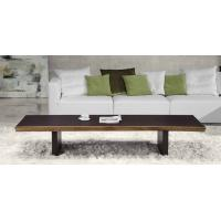Quality Elegant  Wenge Wooden Coffee Table Black  Aluminium Base Cafe Tables for sale