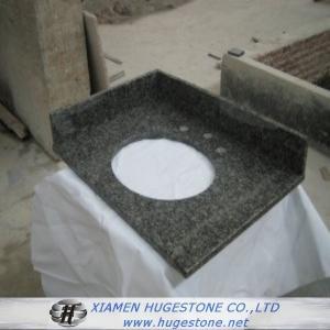 Quality Dark Grey G654 Granite Sink Countertops, Bathroom Dark Grey Sink Countertops for sale