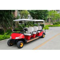 Quality Red Body Color Sightseeing Car 8 Passenger Electric Golf Buggy With Plastic Storage Tank for sale