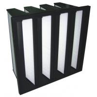 Buy cheap CE, ISO V Bank HEPA Filter with ABS Black Frame for HVAC Carbon Active Chemical Gas Filter from wholesalers