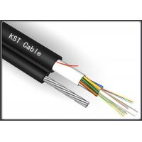 Quality 24 Core Black Aerial Fiber Optic Cable Single Mode With Non - Mental Strength Member for sale