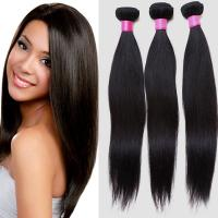 Quality Lightweight Virgin Brazilian Straight Hair , Real Brazilian Hair Extensions Double Weft for sale