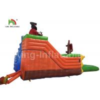 China 0.9mm PVC Inflatable Water Parks Pirate Ship Type / Inflatable Water Activities on sale