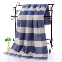 Quality Plaid Patterned Luxury Cotton Towels for sale