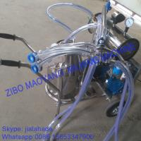 Buy For USA market,Vacuum Pump Typed Single Bucket Mobile Milking Machine, hot sale at wholesale prices