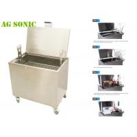 Quality Food Industry Ultrasonic Cleaner for Oil and Carbon Removing with Drainage and Wheels for sale