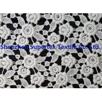 Quality White Polyester Children'S Clothing Fabric Water Soluble Embroidery Lace for Dresses or Decoration for sale