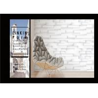 Quality PVC White Grey Faux Brick Wallpaper Textured For Walls , Eco - Friendly for sale