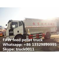 Quality hot sale FAW brand 4*2 LHD 180hp 20m3 diesel poultry feed pellet truck, factory direct sale FAW J6 8tons-12tons bulk ani for sale
