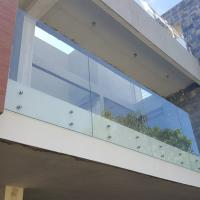 Quality Stainless Steel Glass Standoff Tempered Laminated Glass Balcony Railing for sale