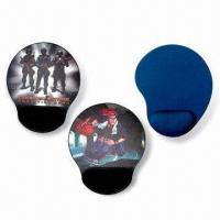 Quality Mouse Pads with Arm Rest, Made of Neoprene and Cloth, Measures 220 x 180 x 2mm for sale