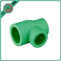Quality Green / White Ppr Reducing Tee Unequal Tee Plumbing Piping 20 - 110 MM Size for sale