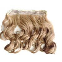 Quality Heat Friendly Natural Curly Hair Wigs Double Weft Clip In Hair Extensions for sale