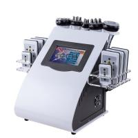 Quality 6 In 1 RF Cavitation Vacuum Laser Reduce Cellulite Machine Body Slimming Device for sale