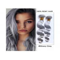 "Quality Indian Gray Human Hair Body Wave / Straight Fashion Style 16"" - 22"" for sale"