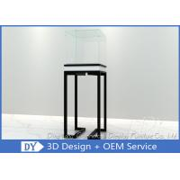 Buy Simple Glass Jewellery Shop Cabinets / Jewelry Display Cabinets Cream Coating at wholesale prices