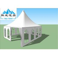 Buy cheap High Capacity Light Weight Aluminum Frame Waterproof Canopy Tent For Party With White And Glass Windows from wholesalers