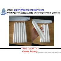 Buy cheap wholesale stick white paraffin wax candle for home decoration from wholesalers