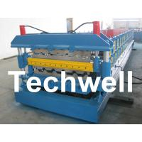 Quality Automatic PLC Control Dual Level Roll Forming Machine With Manual / Automatic Decoiler for sale