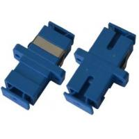 China Blue Fiber Optical Audio Cable Adapter SC Duplex Coupler Singlemode For Local Area Network on sale