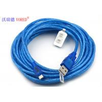 Quality Blue Transparent Micro USB Data Cable Micro 5 Pin USB 156g Net Weight for sale