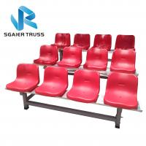 Quality 1000kgs / M2 Portable Bleachers On Wheels , Sgaier Outdoor Stadium Seat for sale