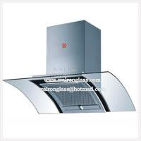 Quality 4mm Bent Tempered Appliance Glass Panel/ Range Hood Glass Panel for sale