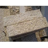 Quality China Landscaping Yellow Flamed Granite Curbstones for Garden for sale
