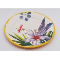 Quality Customized Ceramic Dinner Plates , Flower Decal 8 Inch 10 Inch Dinner Plates for sale