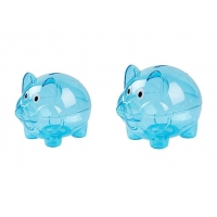 Quality Blue Unbreakable Toddler Piggy Bank 15cmx23cmX15cm Non Toxic for sale