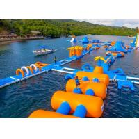 Quality Large Inflatable Water Obstacle , Aqua Blow Up Water Park CE Approved for sale